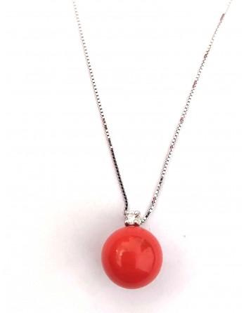 Collana corallo rosso 10 mm